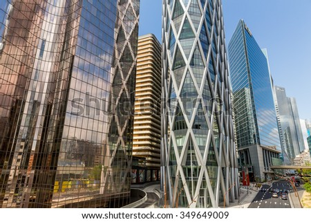 Paris, France-July 21, La Defense business district of Paris, France, July 21.2015 in Paris