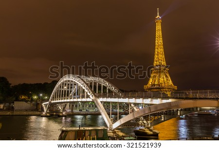 Paris, France - July 20, the Eiffel Tower in Paris, July 20, 2015 in Paris - stock photo