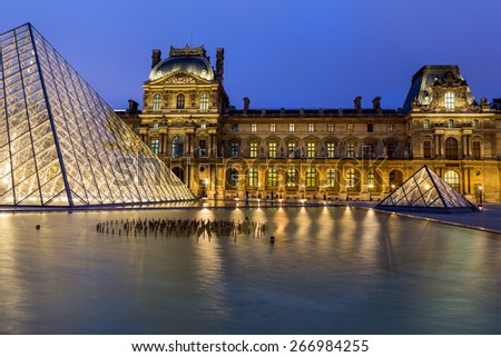 Paris, France - July 09, 2014: The Louvre Museum in Paris on July 09, 2014