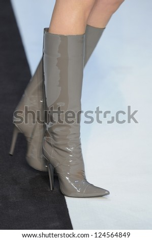 PARIS, FRANCE - MARCH 02: A model shoes on the runway during the Guy Laroche Ready to Wear Fall/Winter 2011 show as part of the Paris Fashion Week on March 02, 2011