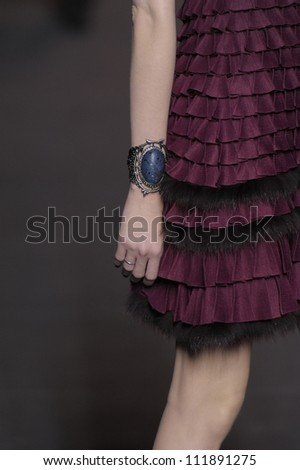 PARIS, FRANCE - MARCH 04: A model walks runway during the Christian Dior Ready to Wear Autumn/Winter 2011/2012 show during Paris Fashion Week at Musee Rodin on March 4, 2011 in Paris, France.