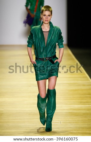 PARIS, FRANCE - MARCH 03: A model walks the runway during the Barbara Bui show as part of the Paris Fashion Week Womenswear Fall/Winter 2016/2017 on March 3, 2016 in Paris, France.