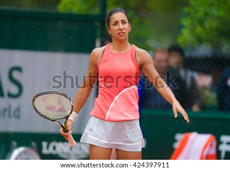 PARIS, FRANCE - MAY 22 : Cagla Buyukakcay in action at the 2016 French Open