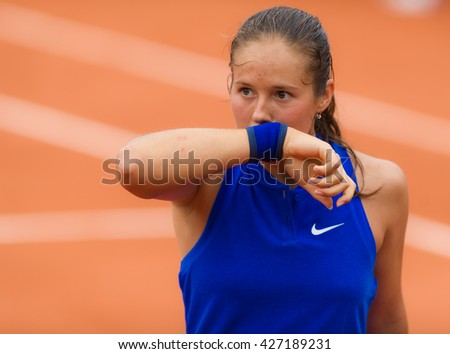 PARIS, FRANCE - MAY 26 : Daria Kasatkina in action at the 2016 French Open