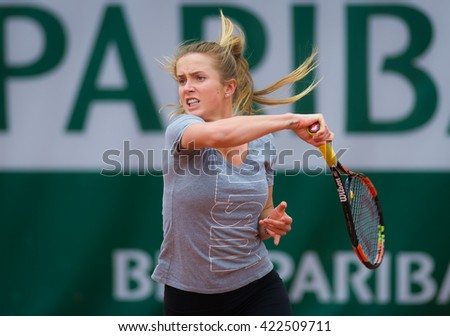 PARIS, FRANCE - MAY 16 : Elina Svitolina in action during practice at the 2016 French Open
