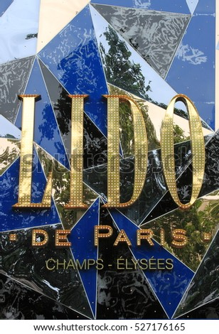 PARIS, FRANCE - MAY 23, 2015: Lido de Paris - the famous club and cabaret stage on May 23, 2015 in Paris