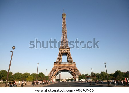 PARIS, FRANCE - MAY 22: One of landmarks in the capital of France on May 22, 2009 in Paris, France. - stock photo