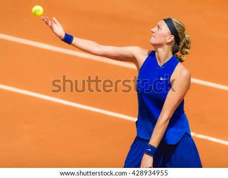 PARIS, FRANCE - MAY 27 : Petra Kvitova in action at the 2016 French Open