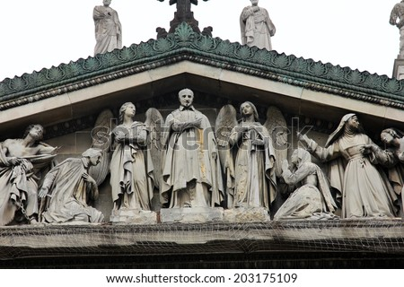 PARIS, FRANCE - MAY 17, 2014: Saint Vincent de Paul Church in Paris, France on May 17, 2014