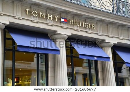 Paris, France - May 25, 2015: Tommy Hilfiger store in Paris - stock photo
