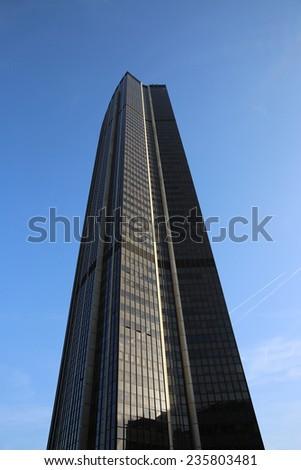 PARIS, FRANCE - NOVEMBER 23, 2014: Maine-Montparnasse Tower (Tour Montparnasse) in Paris - stock photo