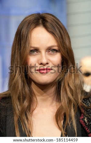 PARIS, FRANCE - NOVEMBER 9, 2011 - Vanessa Paradis during the light period of Paris for Christmas. They inaugurated the store windows of the department store Printemps Haussmann. - stock photo