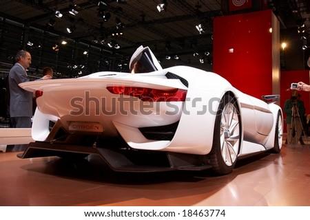 PARIS, FRANCE - OCTOBER 02: Paris Motor Show 2008, Citroen GT Concept, rear view - stock photo