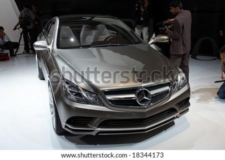 PARIS, FRANCE - OCTOBER 02: Paris Motor Show  on October 02, 2008, showing Mercedes-Benz Fascination Concept, front view. - stock photo