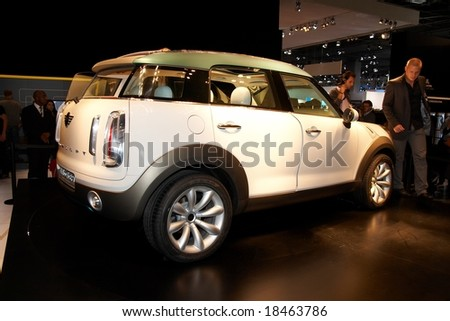 PARIS, FRANCE - OCTOBER 02: Paris Motor Show on October 02, 2008, showing MINI Concept Crossover, rear view