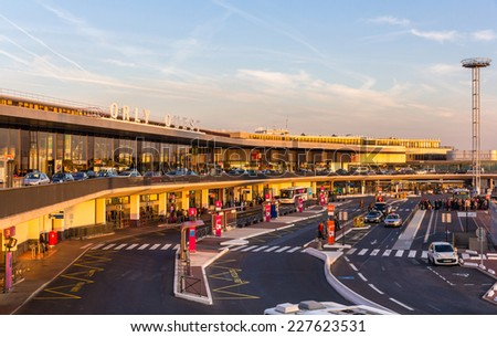 PARIS, FRANCE - OCTOBER 4: Western terminal of Paris-Orly airport in Paris on Ocrober 4, 2014. Orly is the second busiest French airport with 28,274,154 passengers served in 2013