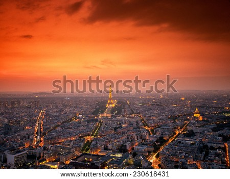 PARIS, FRANCE - SEPTEMBER 10: Eiffel Tower on September 8, 2014 in Paris. It was erected in 1889 and has become both a global cultural icon of France and the world.