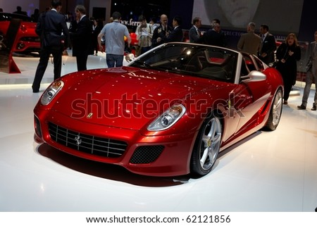 PARIS, FRANCE - SEPTEMBER 30: Ferrari SA APERTA at Paris Motor Show on September 30, 2010 in Paris. - stock photo