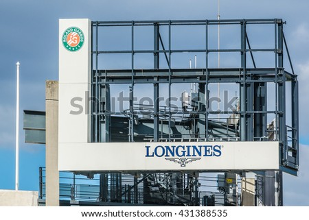 "PARIS, FRANCE - SEPTEMBER 20, 2015: Stade Roland Garros (""Roland Garros Stadium"") - tennis venue complex."