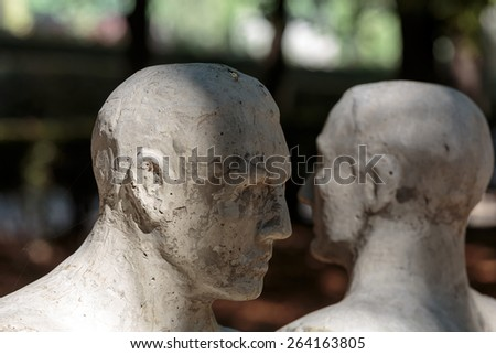 PARIS, FRANCE - SEPTEMBER 12, 2014: Statue in Rodin Museum in Paris - stock photo