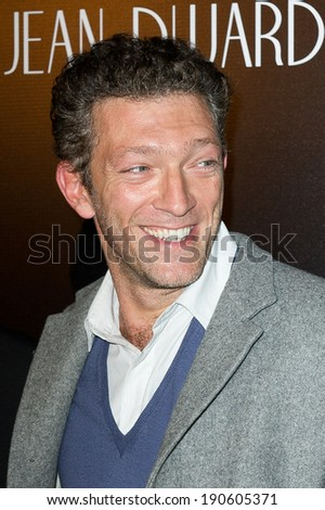 PARIS, FRANCE - SEPTEMBER 28, 2011 : Vincent cassel at the french premiere of The artist in Paris at le Grand Rex theater - stock photo