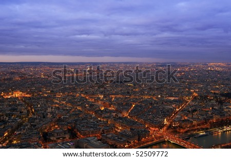 Paris from the Eiffel tower