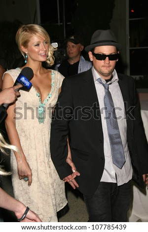 Paris Hilton and Benji Madden  at Sober Day USA 2008 Presented by the Brent Shapiro Foundation for Alcohol and Drug Awareness. Private Residence, Beverly Hills, CA. 05-17-08 - stock photo