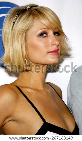 """Paris Hilton at the HRTS' """"Broadcasting Reality: Show Me the Money!"""" Newsmaker Luncheon held at the Beverly Hilton Hotel in Los Angeles, United States, 220409.  - stock photo"""