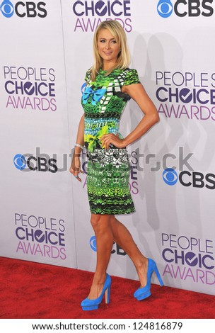 Paris Hilton at the People's Choice Awards 2013 at the Nokia Theatre L.A. Live. January 9, 2013  Los Angeles, CA Picture: Paul Smith