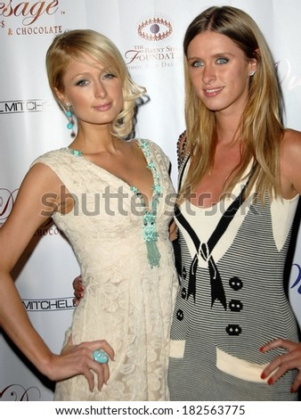 Paris Hilton, Nicky Hilton at The Brent Shapiro Foundation for Alcohol and Drug Awareness Sober Day Dinner and Benefit, private residence, Beverly Hills,, May 17, 2008 - stock photo