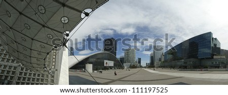 PARIS - MAY 10: Paris, France on May 10, 2012.  La Defense (panoramic view), commercial and business center of Paris, France