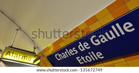Paris, Metropolitaine. Signs and Directions. - stock photo