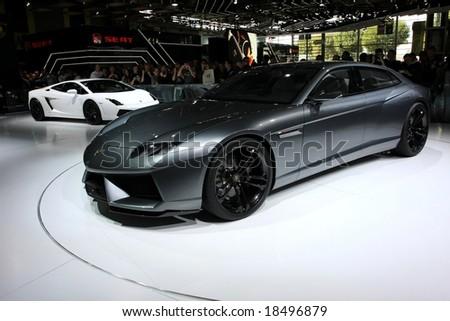 Paris Motor Show 4-19 October 2008: the Lamborghini Estoque Concept - stock photo