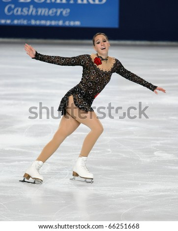 PARIS - NOVEMBER 26: Sarah HECKEN of Germany performs at ladies free skating event of the ISU Grand Prix Eric Bompard Trophy, November 26, 2010 at Palais-Omnisports de Bercy, Paris, France.