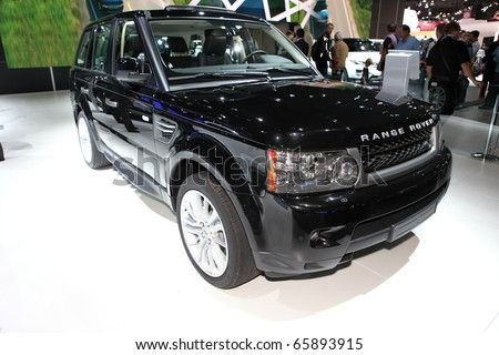 PARIS - OCTOBER 12: The Range Rover displayed at the 2010 Paris Motor Show on October 12, 2010 in Paris - stock photo