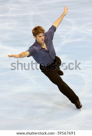 PARIS - OCTOBER 17: Vaughn CHIPEUR of Canada performs at men's free skating event of the ISU Grand Prix Eric Bompard Trophy at Palais-Omnisports de Bercy on October 17, 2009 in Paris, France.