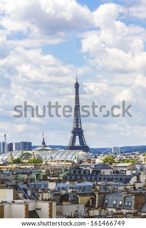 Paris Panorama. Eiffel Tower in the background. France