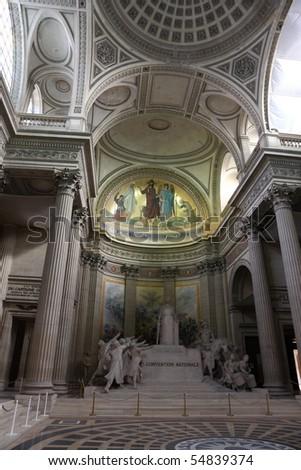 Paris Pantheon inside - stock photo