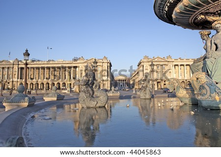 Paris Place de la Concorde - stock photo
