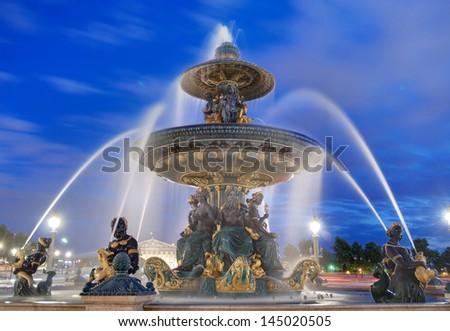 Paris, Place de la Concorde, France - stock photo