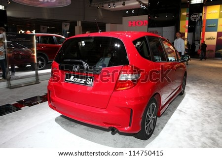 PARIS - SEPTEMBER 30: The new Honda Jazz Si displayed at the 2012 Paris Motor Show on September 30, 2012 in Paris