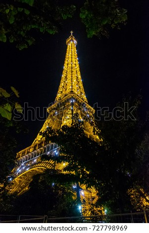 PARIS, SEPTEMBER 2017: Tour Eiffel in Paris, France.