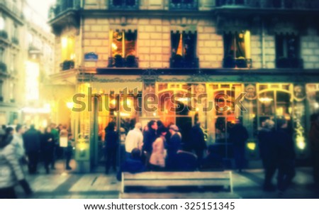 Paris Street Life, Intentionally blur - stock photo