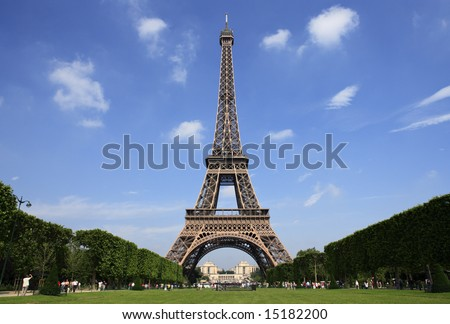 Paris, the beautiful Eiffel Tower.