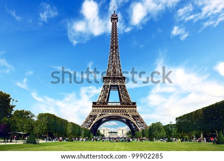 Paris, The Eiffel Tower - stock photo