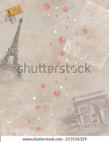 Paris theme illustration - stock photo