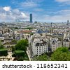 Paris. View of the Latin Quarter and Montparnasse, with Notre Dame - stock photo