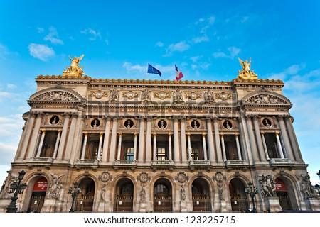 Paris: View of the Opera Garnier - stock photo