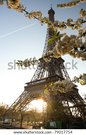 Paris with Eiffel Tower, France - stock photo