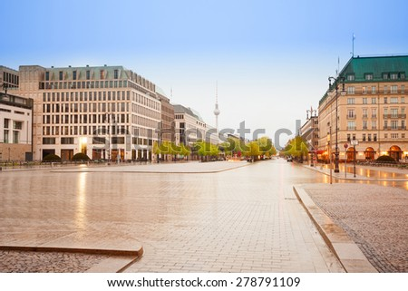 Pariser Platz, Unter den Linden street and panorama of Berlin, Germany - stock photo